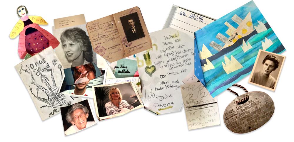 Collage aus alten Erinnerungen
