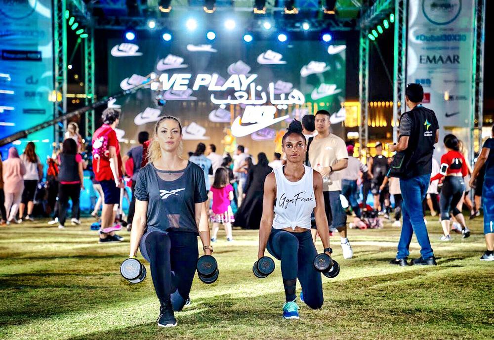 Letzter Tag der Dubai Fitness Challenge